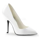 White Varnished 13 cm SEDUCE-420 pointed toe pumps high heels