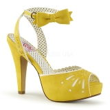 Yellow 11,5 cm Pinup BETTIE-01 high heeled sandals