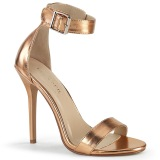 gold rose 13 cm Pleaser AMUSE-10 high heeled sandals