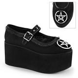 pentagramma tela 8 cm CLICK-02-2 scarpe lolita gotico calzature suola spessa