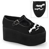 pipistrello tela 8 cm CLICK-04-2 scarpe lolita gotico calzature suola spessa