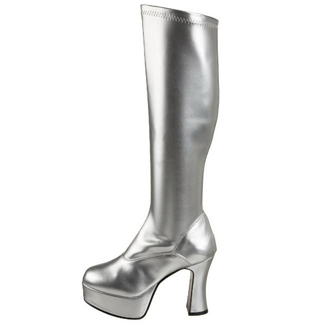EXOTICA-2000 argento stivali plateau con tacco taglie 35 - 36
