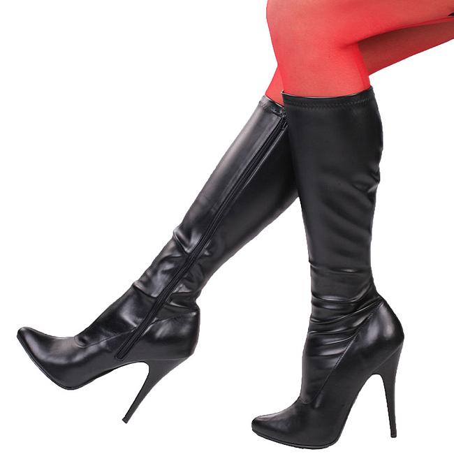 SEDUCE-2000 nero stivali donna con tacco alto taglie 35 - 36
